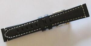 【送料無料】腕時計 ブレスレットドノワールヌフbracelet de montre cuir vritable noir largeur 18 mm neuf