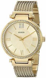 【送料無料】腕時計 ゴールドストーンリンクブレスレットguess u0638l2 womens sophisticated gold tone g link bracelet watch