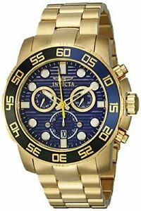 【送料無料】腕時計 メンズプロダイバーkゴールドステンレススチールウォッチinvicta mens 21555 pro diver 18k gold ionplated stainless steel watch