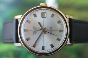 【送料無料】腕時計 ビンテージメンズロシアウォッチvintage mens russian goldplated mechauto poljot watch 23 jewels with date