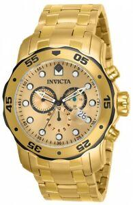 【送料無料】腕時計 メンズプロダイバースイスクオーツアナログゴールドウォッチinvicta mens pro diver analog display swiss quartz gold watch 80070