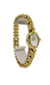 【送料無料】腕時計 パールゴールドトーンアナログウォッチbulova 97s89 womens oval analog mother of pearl gold tone watch
