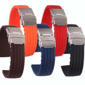 【送料無料】腕時計 ファッションシリコンラバーソリッドレッドブラックブラウン