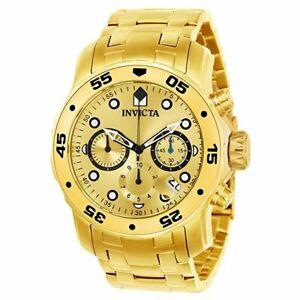 【送料無料】腕時計 メンズクロノグラフゴールドステンレススチールスイスクオーツウォッチinvicta mens chronograph gold stainless steel swiss quartz watch 21924