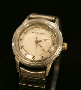 【送料無料】腕時計 ビンテージスイスインカスチールrare vintage 1950s ernest borel swiss 17 jewel incastar all steel wristwatch