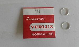 【送料無料】腕時計 ロットインカビンテージlot de 2 verres incassables normaliss verlux pice horlogerie vintage n119