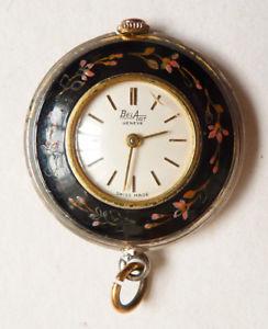 【送料無料】腕時計 pendentif montre de femme belart genve infirmire mcanique mail vers 1950