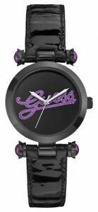 【送料無料】腕時計 ロゴレディースクォーツウォッチguess logo glitz damenuhr quarz w0057l6