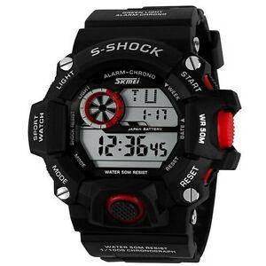 【送料無料】腕時計 ストップウォッチデジタルスポーツウォッチmen military led stopwatch multifunction digital sport watch