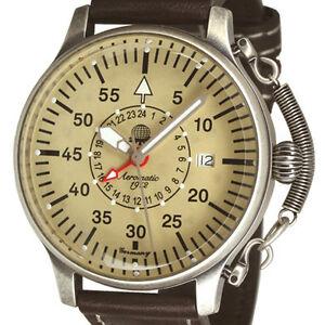 【送料無料】腕時計 エアロマティッククラシックフライヤーオブザーバードイツaeromatic 1912 classic 24h gmt flieger beobachter deutsche legendea1407