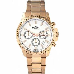 【送料無料】腕時計 ロータリーメンズローズゴールド rotary gb0017406 mens rose gold watch 2 years warranty