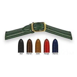【送料無料】腕時計 ブレスレットメインダブルクリックbracelet montre cuir fait main largeur au choix double boucle doree
