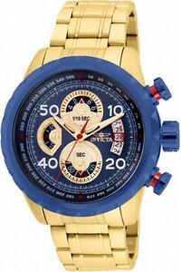 送料無料 腕時計 人気の定番 メンズクォーツクロノゴールドトーンステンレススチールウォッチinvicta mens aviator quartz chrono gold steel 28148 tone stainless 100m セットアップ watch