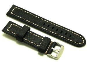 【送料無料】腕時計 レザーウォッチストラップコントラストステッチシルバーバックル
