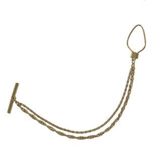 【送料無料】腕時計 メンズヴィンテージベストチェーンダブルゴールドトーンロープペーパークリップmens vintage vest chain 7 double gold tone rope paperclip