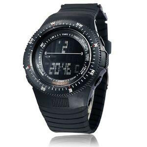 【送料無料】腕時計 メンズスポーツデータデジタルライトシリコンウォッチmens military stopwatch sport data digital light silicone wrist watch