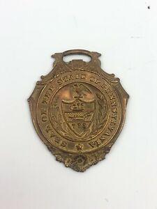 【送料無料】腕時計 ブロンズウォッチフォブペンシルベニアkゴールドプレートシールvgt brass seal of the state of pennsylvania 14k gold plate over bronze watch fob