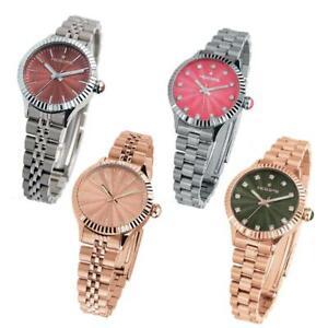 【送料無料】腕時計 フープラグジュアリースワロフスキーヴェルデローザorologio donna hoops luxury bracciale acciaio ros swarovski marrone verde rosa