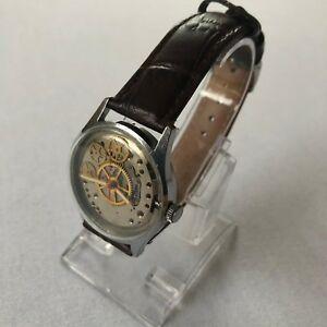 【送料無料】腕時計 スケルトンpobeda skelet