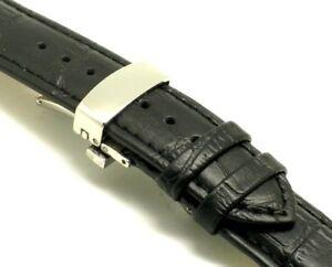 【送料無料】腕時計 レザーウォッチストラップスチールバタフライクラスプ