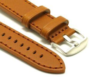 【送料無料】腕時計 ブラウンレザーハンドメンズステッチウォッチストラップステンレススチールバックル
