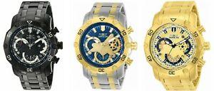 【送料無料】腕時計 メンズプロダイバーステンレススチールクロノグラフウォッチinvicta mens pro diver stainless steel chronograph watch