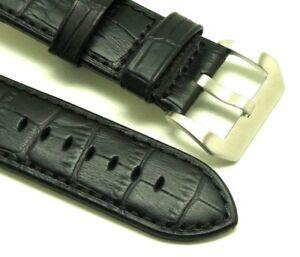 【送料無料】腕時計 クロコダイルウォッチストラッププレバックルエンボスツメフィット