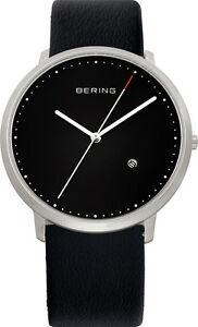 【送料無料】腕時計 ベーリングクラシックメンズブラックレザーウォッチ