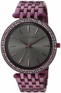 【送料無料】腕時計 ミハエルステンレススチールストラップmichael kors womens darci quartz watch with stainlesssteel strap, purple, 2