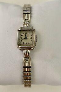 【送料無料】腕時計 ビンテージソリッドウォッチkホワイトゴールドvintage womens girard perregaux 17j wrist watch solid 14k white gold working
