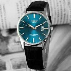 【送料無料】腕時計 メンズクラシックレザービジネススポーツステンレス