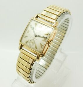 【送料無料】腕時計 ビンテージルマンvintage gruen verithin gold gf automatic autowind precision mans 17j wristwatch