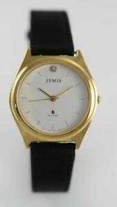 【送料無料】腕時計 ホワイトメンズブラックレザーゴールドステンレススチールクォーツ