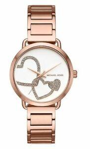 【送料無料】腕時計 ミハエルポーシャローズゴールドトーンステンレススチールnwt michael kors womens portia rose goldtone stainless steel watch 37mm mk3825