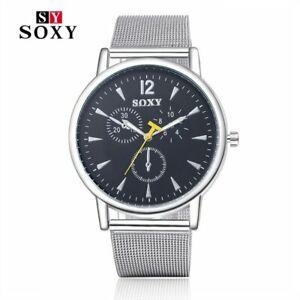 【送料無料】腕時計 トップステンレススチールストラップ…luxury watch top brand soxy watches women men stainless steel strap quartzwa