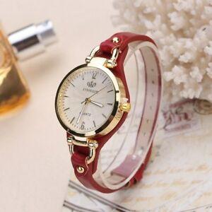 【送料無料】腕時計 レザーストラップファッションカジュアルクォーツrinnady fashion casual quartz watches for women thin leather strap wrist watc