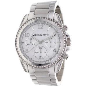 【送料無料】腕時計 ミハエルレディースシルバークロノグラフ¥icial michael kors ladies mk5165 silver chronograph watch rrp 279