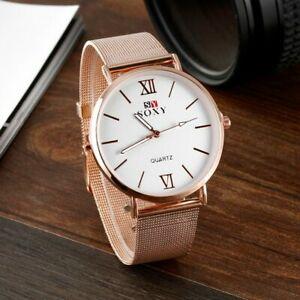 【送料無料】腕時計 ファッションウォッチゴールデンビジネススチールレトロローズfashion watch soxy brand rose golden luxury business steel watches men retro