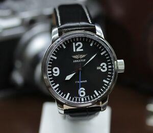 腕時計 カスタムビンテージスチールメンズcustom vintage steel brutal mens watch poljot shturmanskie aviator 17 jewels