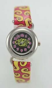 【送料無料】腕時計 キッズレザーステンレススチールクォーツバッテリーウォッチgroovy girl, kids leather stainless steel water resistant quartz battery watch