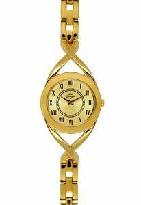 【送料無料】腕時計 ラウンドゴールドスチールブレスレットyonger amp; bresson womens dmp 149705 round gold ip steel bracelet watch