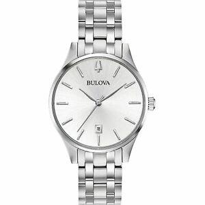 【送料無料】腕時計 クラシックステンレススチールbulova 96m148 classic stainless steel wristwatch