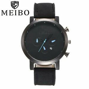 【送料無料】腕時計 メンズミリタリーレザーストラップウォッチmeibo brand men military watch luxury mens wristwatches leather strap calend