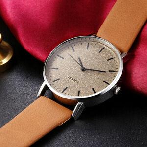 【送料無料】腕時計 ファッションシンプルソフトレザーストラップ fashion men women watch high quality simple wristwatch soft leather strap
