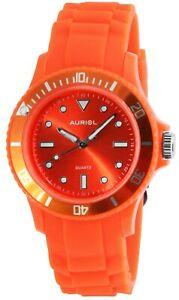 【送料無料】腕時計 レディースメンズウォッチオレンジアナログプラスチックシリコーンクオーツウォッチauriol damenuhr herrenuhr orange analog kunstst silikon quarz x23432006