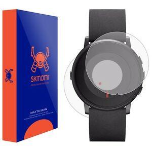 【送料無料】腕時計 ウォッチスキン+ラウンドスクリーンプロテクタskinomi matte watch skinscreen protector for pebble time round 14mm