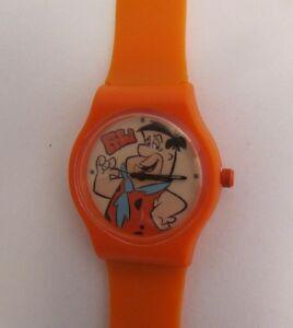 【送料無料】腕時計 サイトフレッドフリントストーンフレッドオレンジクォーツcartoon watch fred feuerstein * kinder quarz uhr * orange * motiv fred * neu