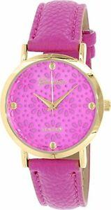 【送料無料】腕時計 ジュネーブプラチナゴールドトーンカジュアルウォッチマジェンタレザーストラップgeneva platinum womens gold tone casual watch w magenta leather strap 4934