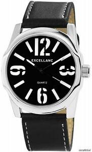 【送料無料】腕時計 アナログメンズウォッチカラーブラックシルバークォーツムーブメントexcellanc analoge herrenuhr farbe schwarzsilber quarzuhrwerk neu 051