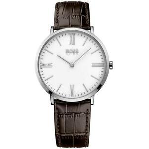 【送料無料】腕時計 ヒューゴボスブラックジャクソンレザーメンズウォッチ